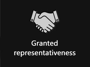 Granting representativeness